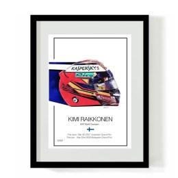 Kimi Raikkonen F1 Art Helmet Art