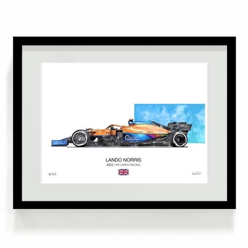 Lando Norris F1 art 2021