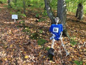 Skeleton of runner #66 on Cemetery Hill