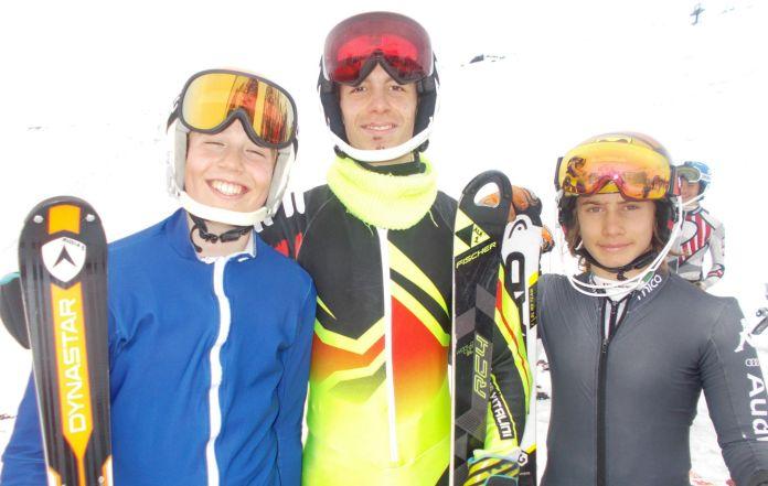 Il podio dei Ragazzi di slalom ©Gabriele Pezzaglia
