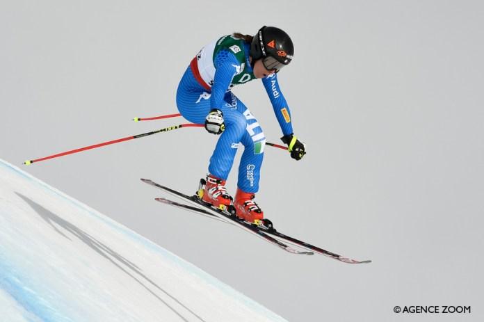 Sofia Goggia in azione ©Agence Zoom