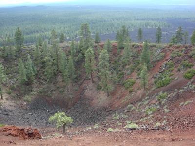 Cinder cone atop Lava Butte