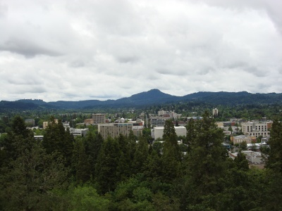 Looking down on Eugene from some random viewpoint