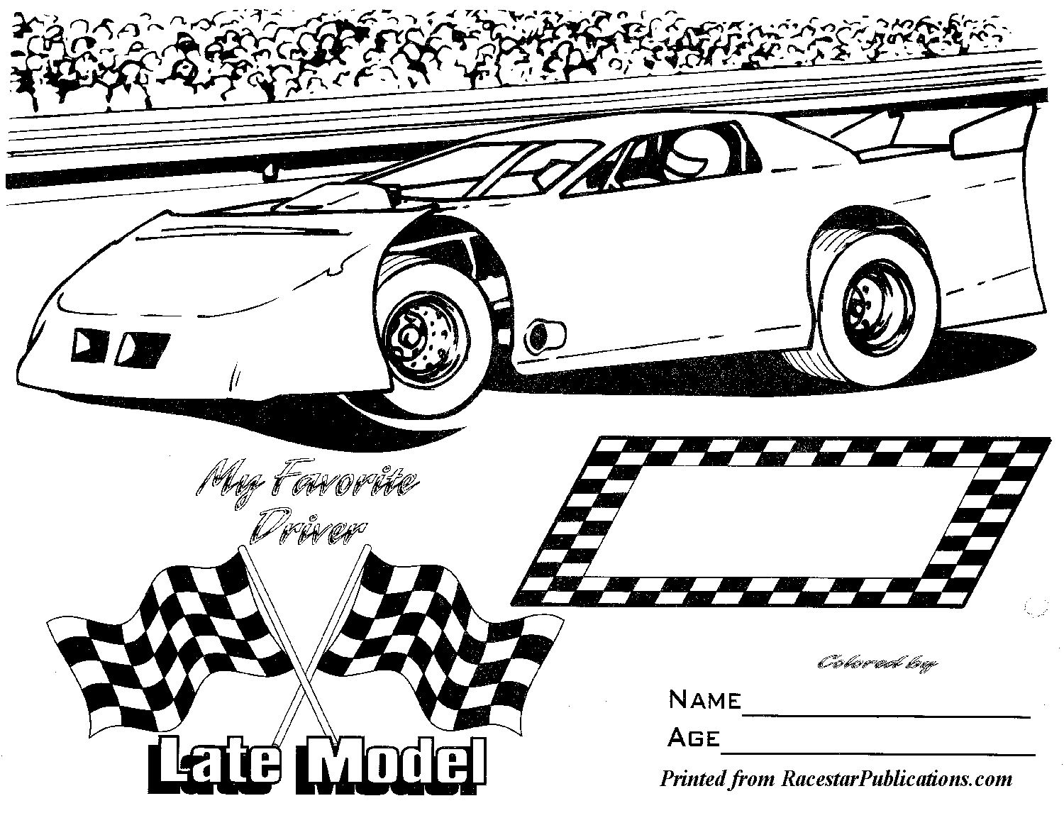 Lil Racer Coloring Page