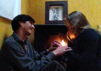 Wedding #25 by the fire