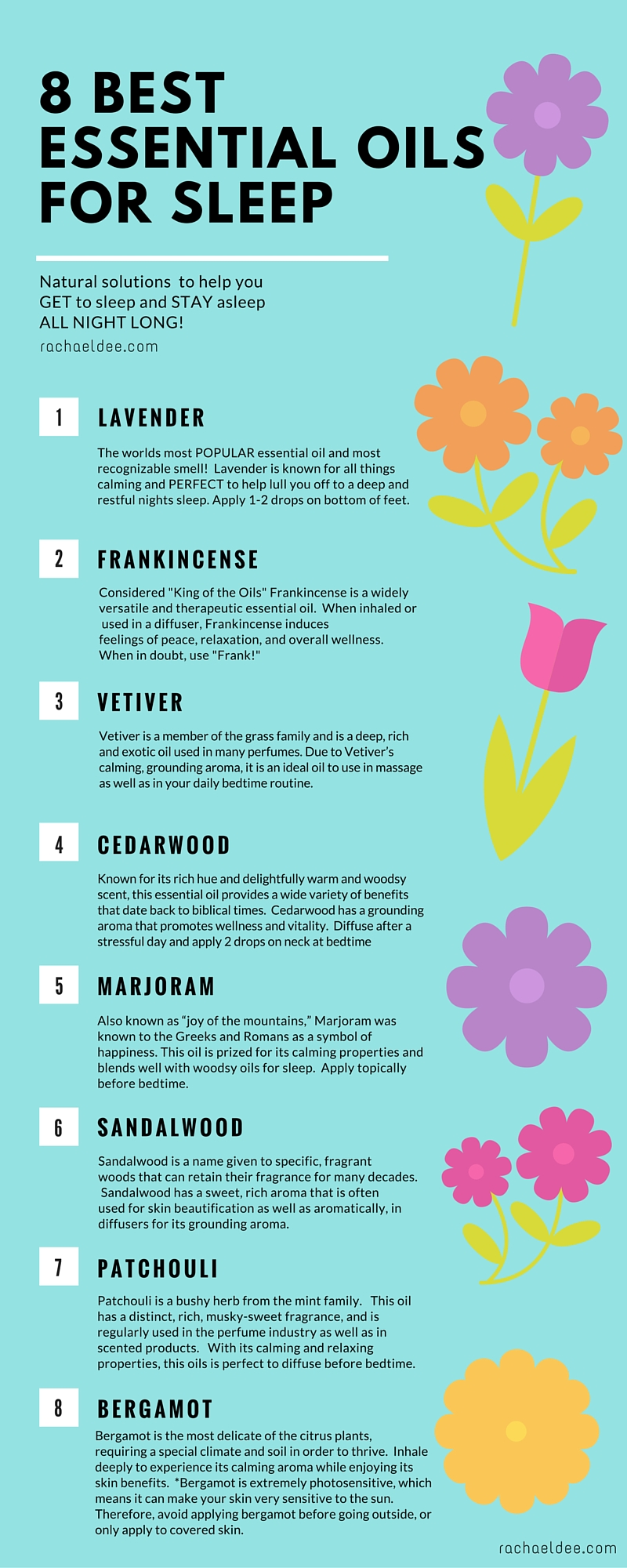 8 Best Essential Oils To Help You Get To Sleep And Stay Asleep All Night Long Rachael Dee
