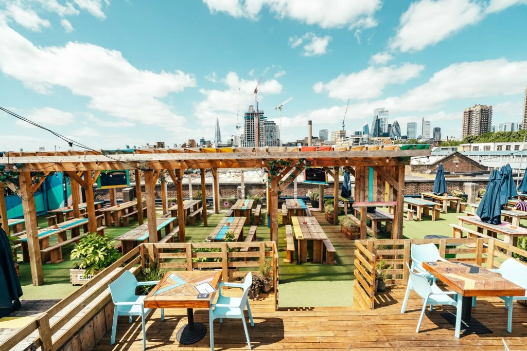 Skylight Rooftop at Tobacco Dock London Bar Restaurant Pop up
