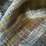 Stainless steel wrapped silk and hand spun wool