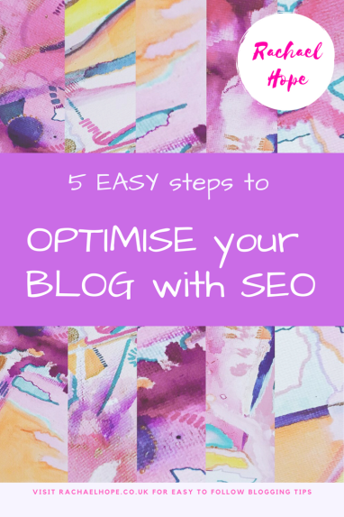 Use SEO to optimise your blog for search engines
