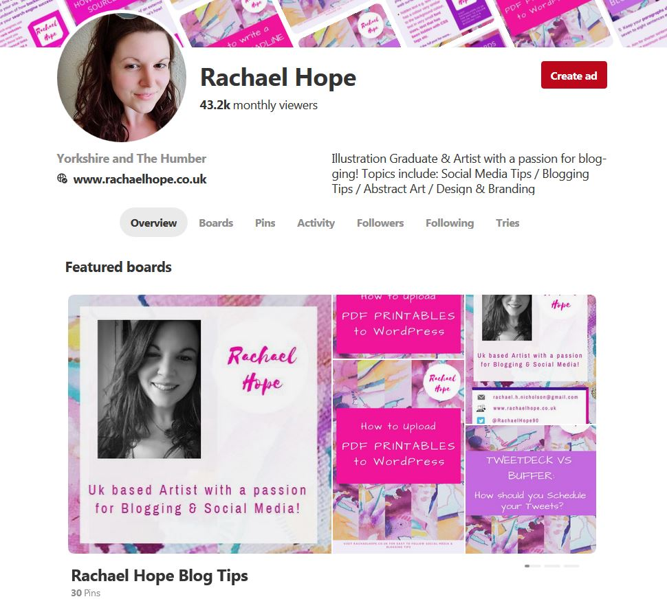 Featured pinterest boards Example
