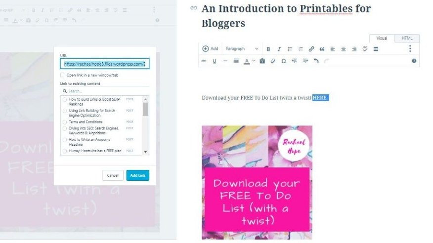 SO, what's the deal with PDF printables? By the end of this post, you will understand how to upload a PDF printable to WordPress. PLUS how a printable can be used to super charge your online content.
