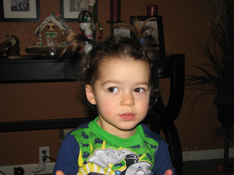 Boaz let me do his hair!