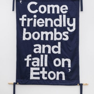 Jeremy Deller, Come Friendly Bombs and Fall on Eton, 2018