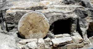 Ancient roadside tomb in Israel, similar to that of Jesus