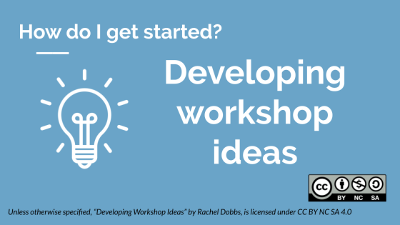 Developing workshop ideas banner image