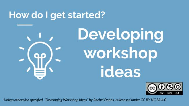 Developing workshop ideas banner image