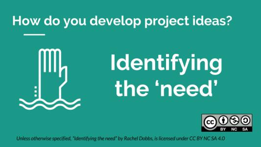 Fundraising Identifying The Need - Rachel Dobbs - CC BY NC SA