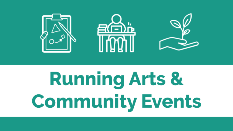 Running arts & community events banner image