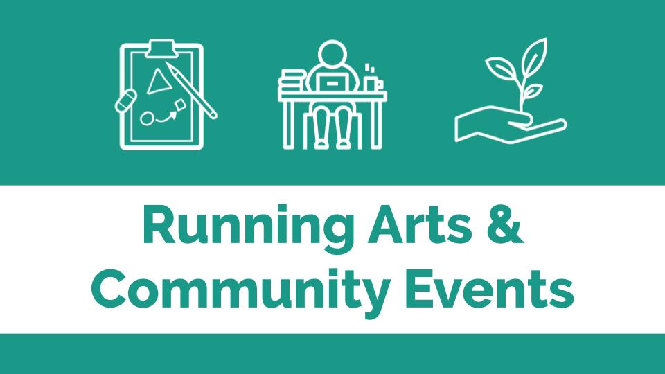 Running arts & community events banner image