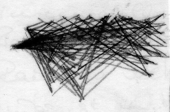 Imprisoned Codes, communication maps, pencil on paper by Rachela Abbate