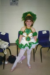 Picture of me as a kid performing on stage - Musical Theatre Junkie