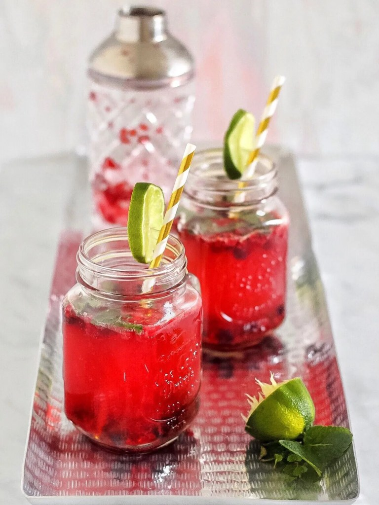 Raspberry and Mint Gin Jammer