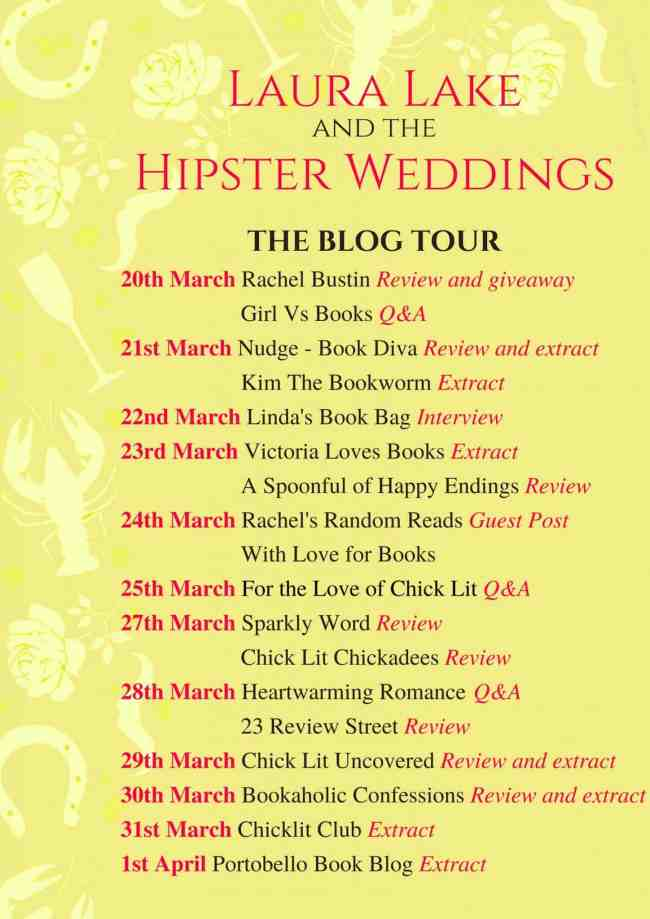 Laura Lake and the Hipster Weddings Blog Tour Schedule