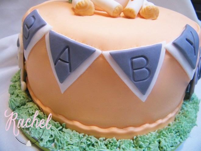 Baby Banner - Baby shower cake