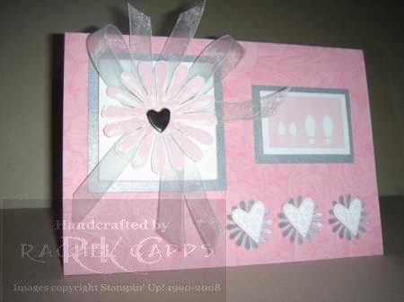 Pretty in Pink & Silver wedding card