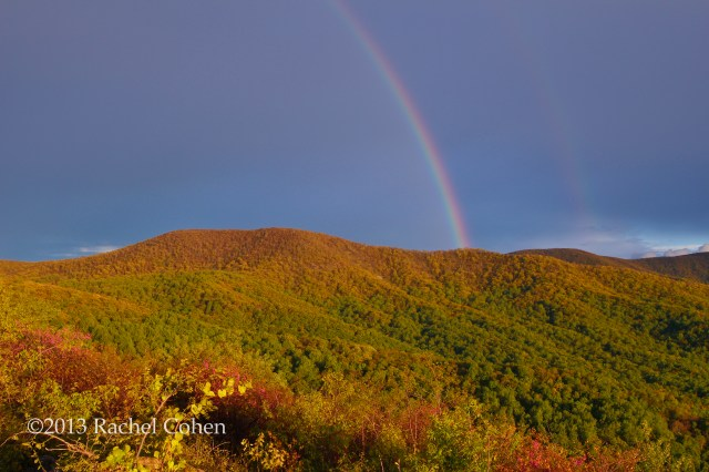 """""""Rainbow on the Ridge"""" A beautiful rainbow formed over the mountains as the storm passed!!"""