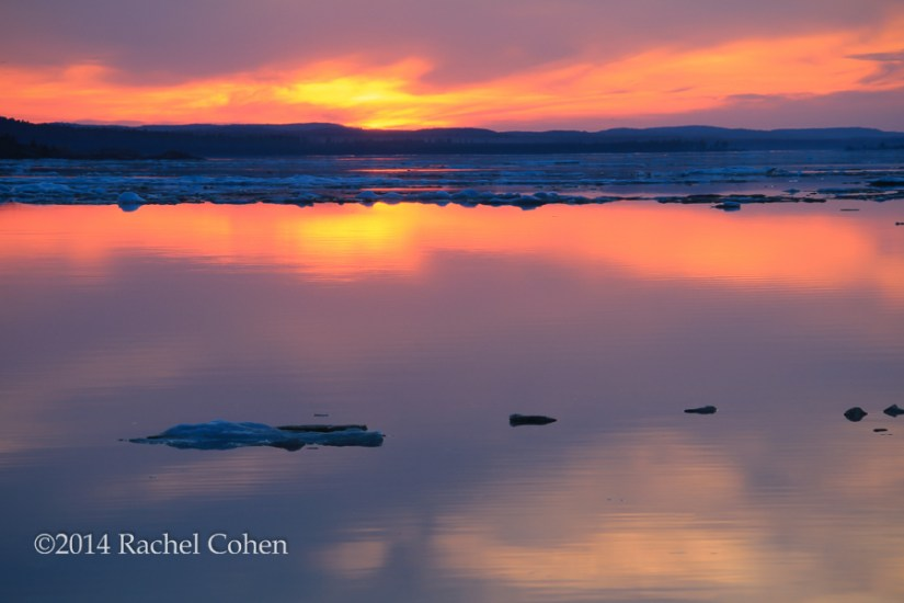 """Sunset on Ice Fields"""