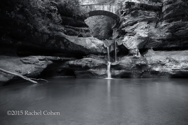 """Old Man's Cave Upper Falls"" B&W"