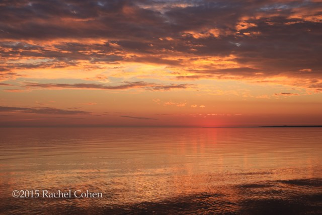 """Magnificent Sunset"" Another gorgeous sunset from Lake Michigan in the Upper Peninsula!"