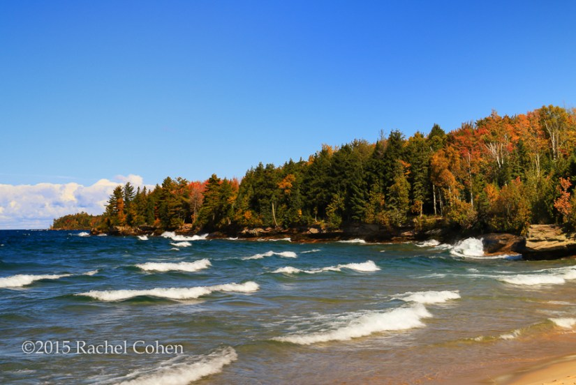 """Great Lakes Autumn Waves"" A beautiful and windy day on Lake Superior near Munising in autumn!"