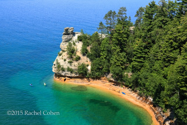 """""""Kayaking at Miners Falls"""" Gorgeous blue waters of Lake Superior at Pictured Rocks National Lake Shore in summer!"""