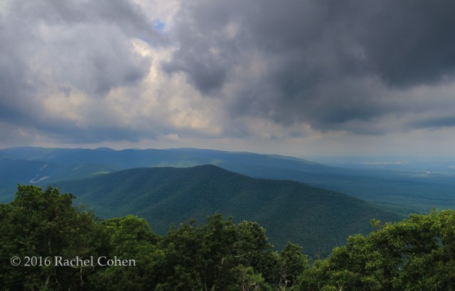 """""""Storm on Blue"""" Gorgeous clouds in the Blue Ridge Mountains during a summer storm."""