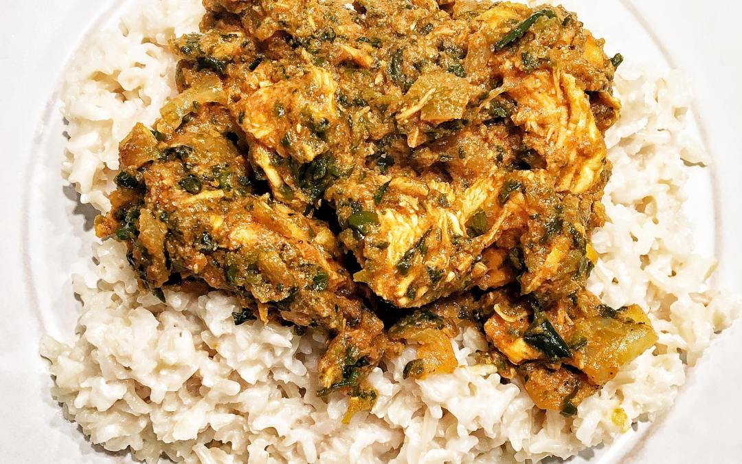 Chicken Curry Recipe with coconut rice