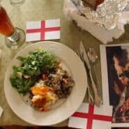 St George's Day feast with shepard's pie.
