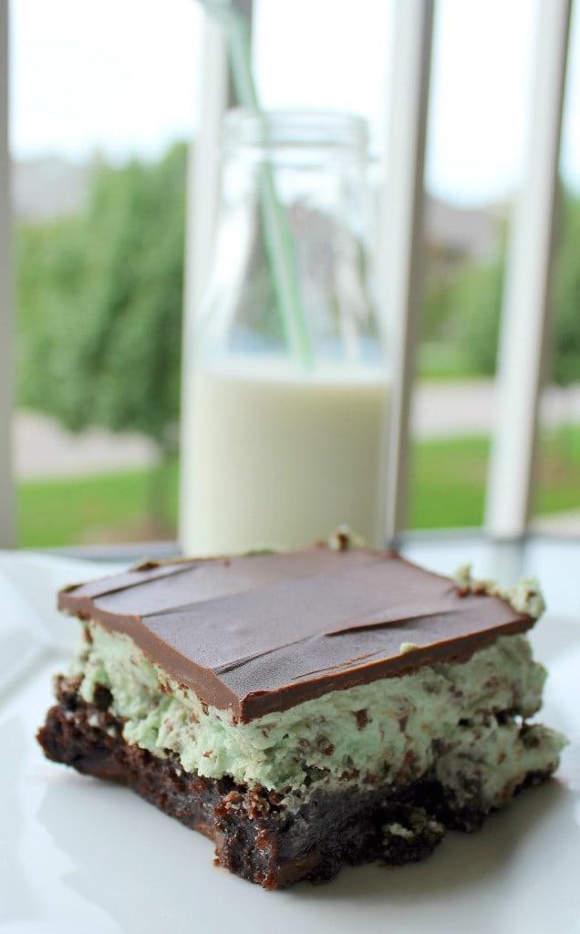 mint chocolate chip brownie
