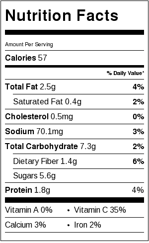healthy coleslaw nutrition labels