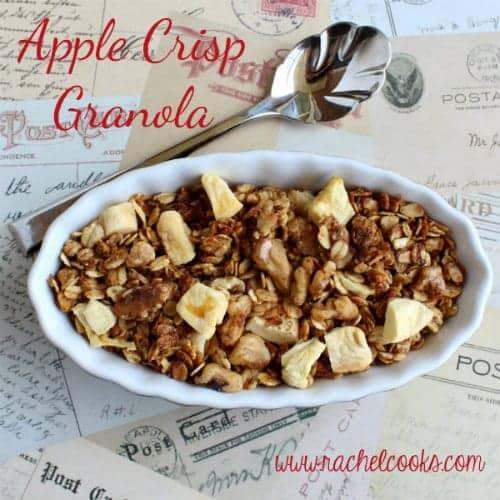 apple granola photo, overhead view