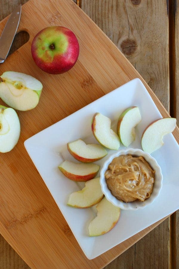 Looking for a way to dress up your apples? Try this absolutely irresistible peanut butter cream cheese apple dip. Get the easy recipe on RachelCooks.com!