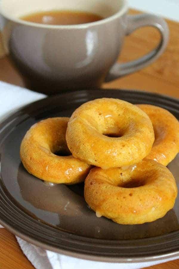 Mini Pumpkin Doughnuts with Cider-Rum Glaze