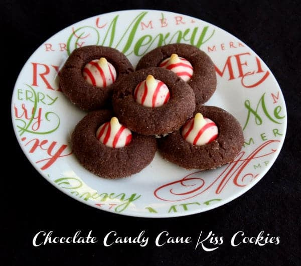 These peppermint kiss cookies are easy to make and the chocolate and peppermint combination is a holiday classic!