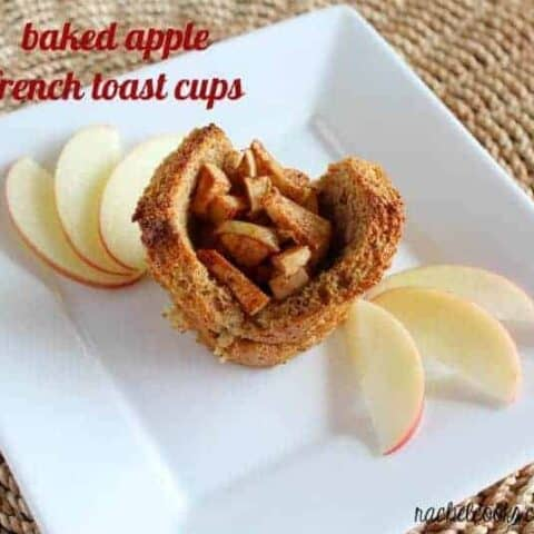 Baked Apple French Toast Cups