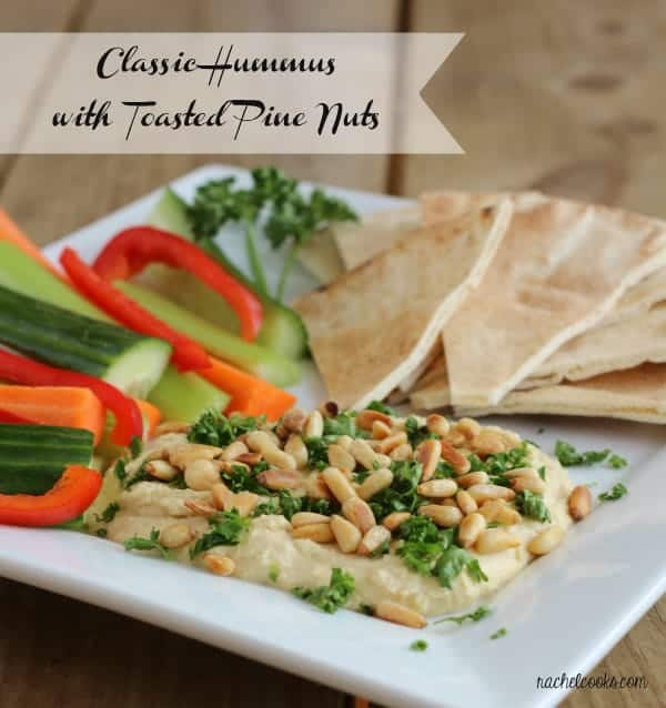 Hummus with Toasted Pine Nuts | RachelCooks.com