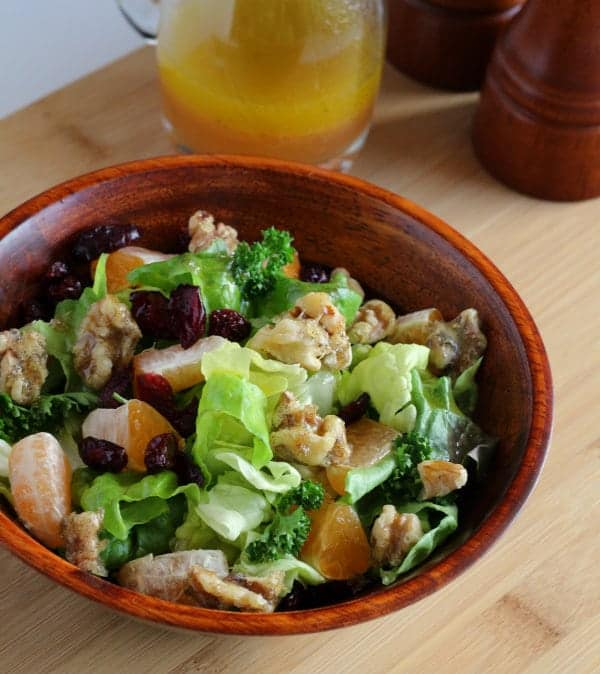 Winter Salad With Clementine Dressing and Vanilla Bean Candied Walnuts | RachelCooks.com