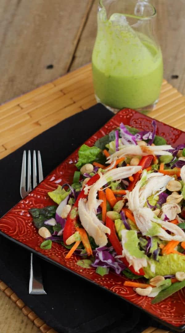 Asian Chicken Salad with Cilantro Lime Vinaigrette | RachelCooks.com