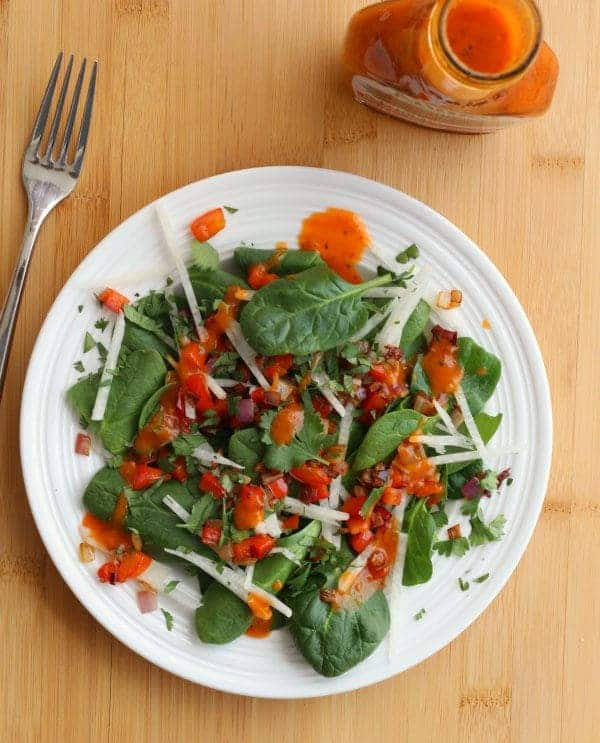 Southwestern Salad with Roasted Red Pepper Dressing | RachelCooks.com