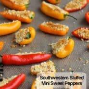 Southwestern Stuffed Mini Sweet Peppers | RachelCooks.com
